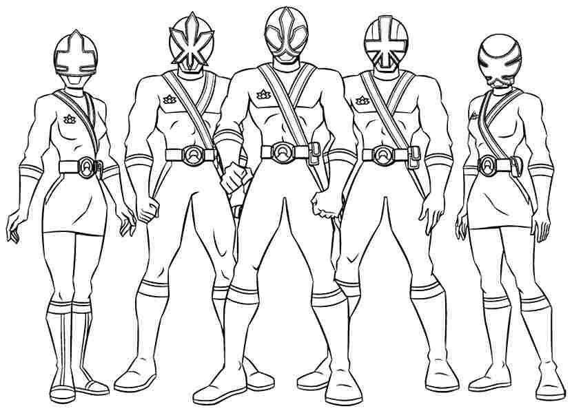 830x600 Power Rangers Coloring Pages For Kids