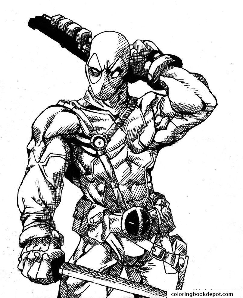 807x990 Deadpool Details Hd Coloring Pages