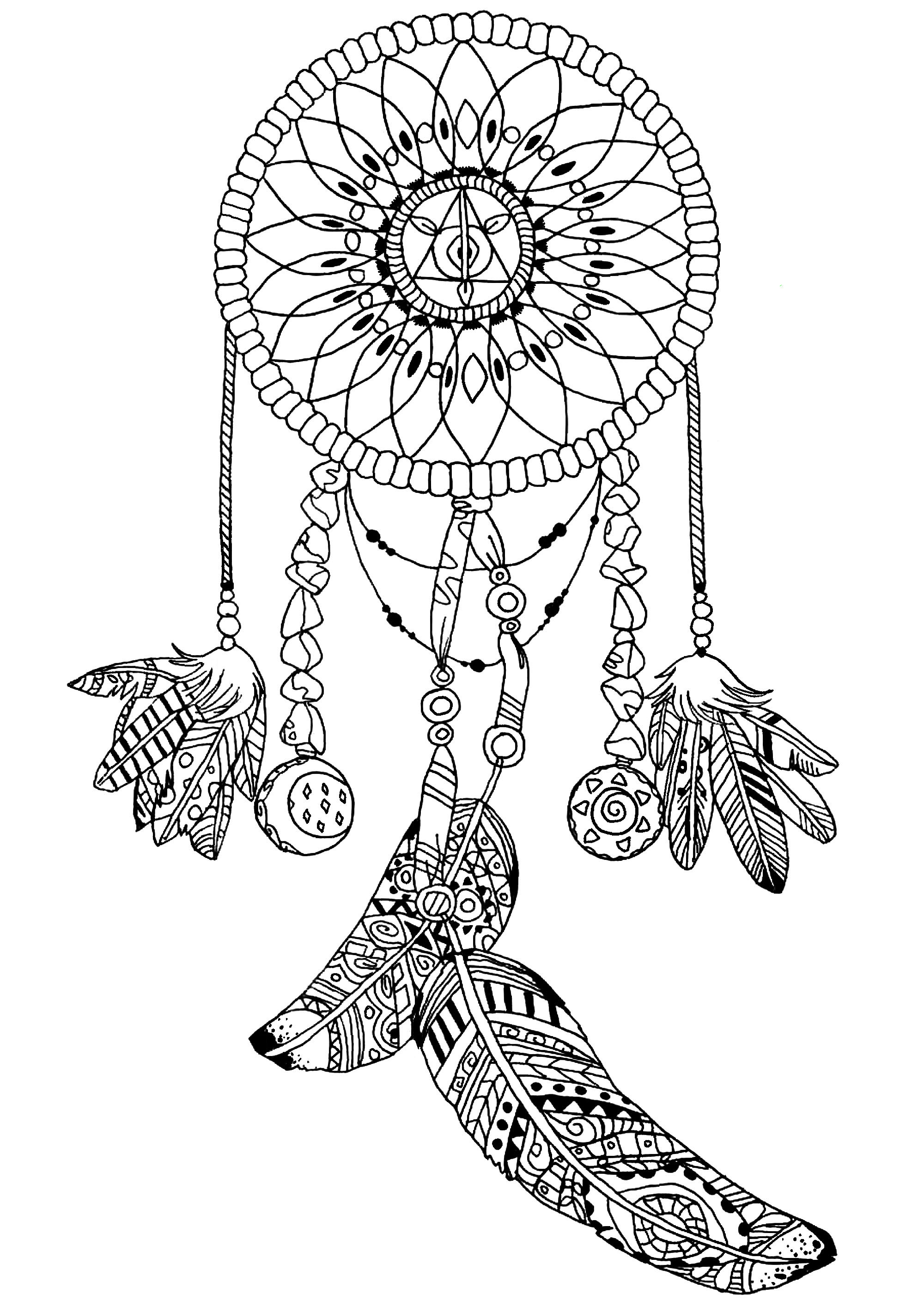 2000x2827 Dream Catcher Coloring Pages Hd Drawing Board Weekly