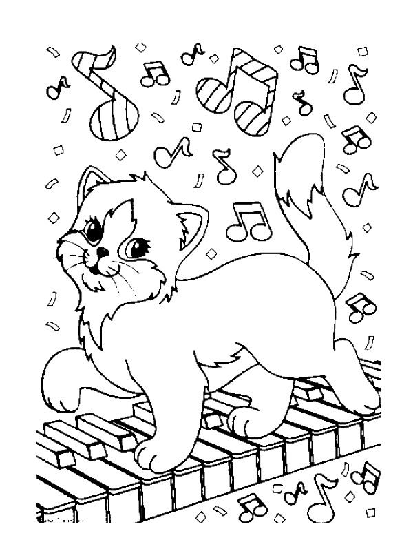 600x800 Online Coloring Pages For Adults Cats Musical Youtube Videos