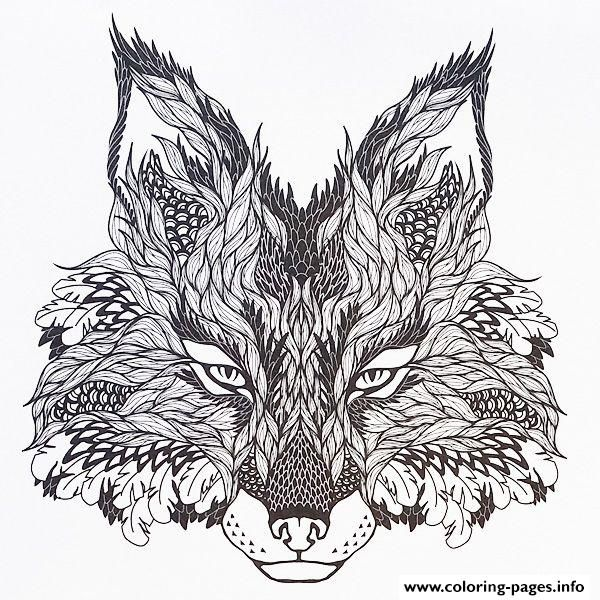600x600 Print Adults Difficult Animals Wolf Hd Color Coloring Pages