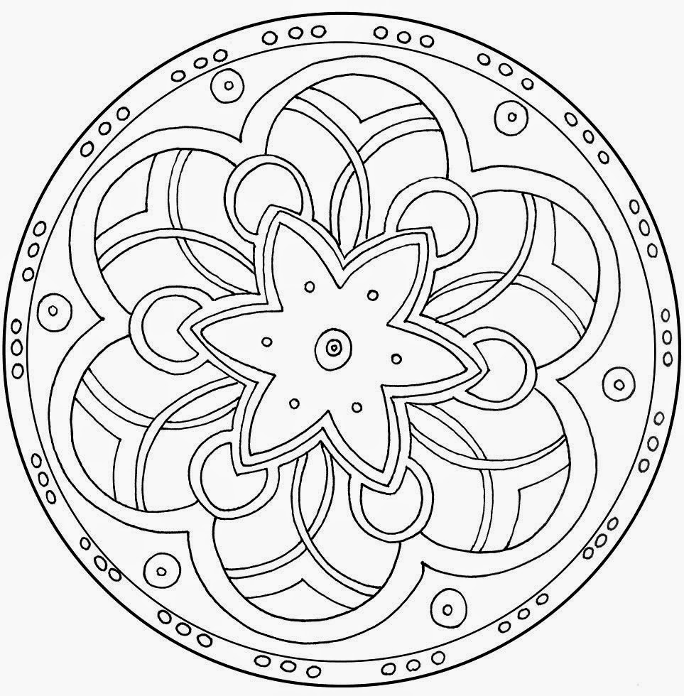 963x980 Printable Mandalas Star Hd Coloring Pages For Adults