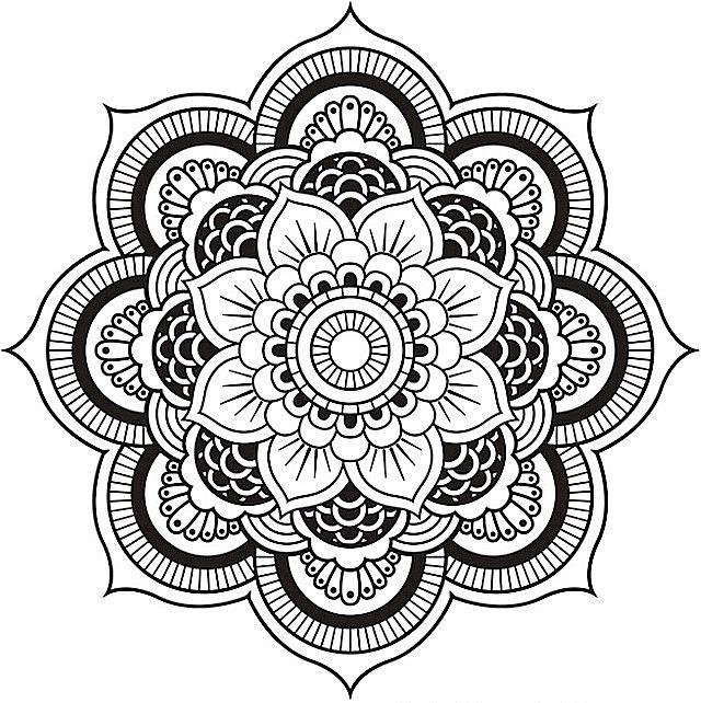 640x642 Adult Coloring Pages Mandala Hd Printable