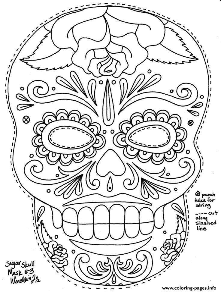 736x969 Hd Coloring Pages Simple Sugar Skull Hd Adult Coloring Pages