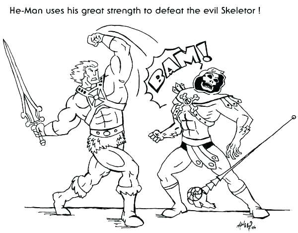 He Man Coloring Pages at GetDrawings | Free download