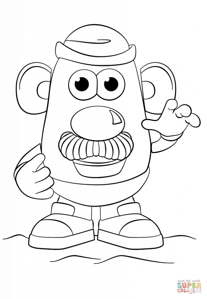 711x1024 Mr Potato Head Coloring Page
