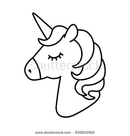 450x470 Unicorn Head Coloring Pages Unicorn Head Coloring Pages As Well As