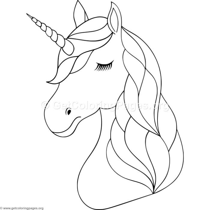 700x700 Unicorn Head Coloring Pages