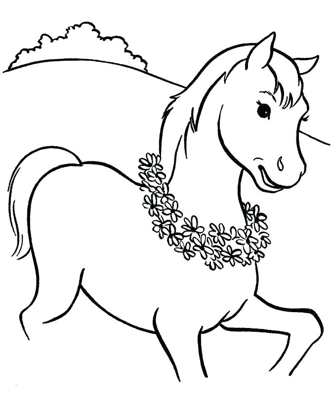 670x820 Horse Head Coloring Pages