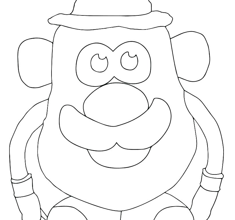 821x768 Potato Coloring Pages