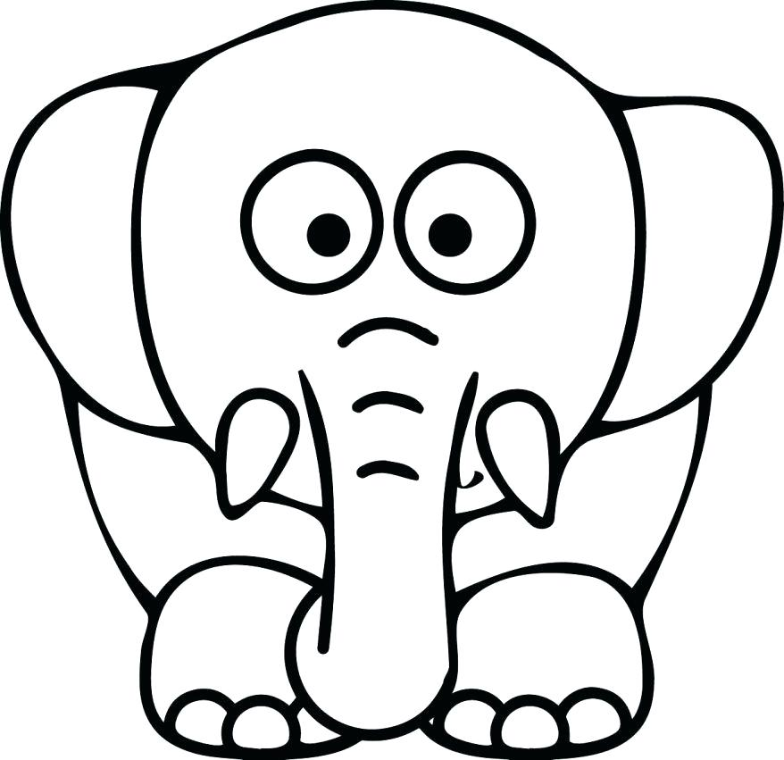 878x851 Coloring Page Face Holiday Coloring Pages Elephant Head Page Face
