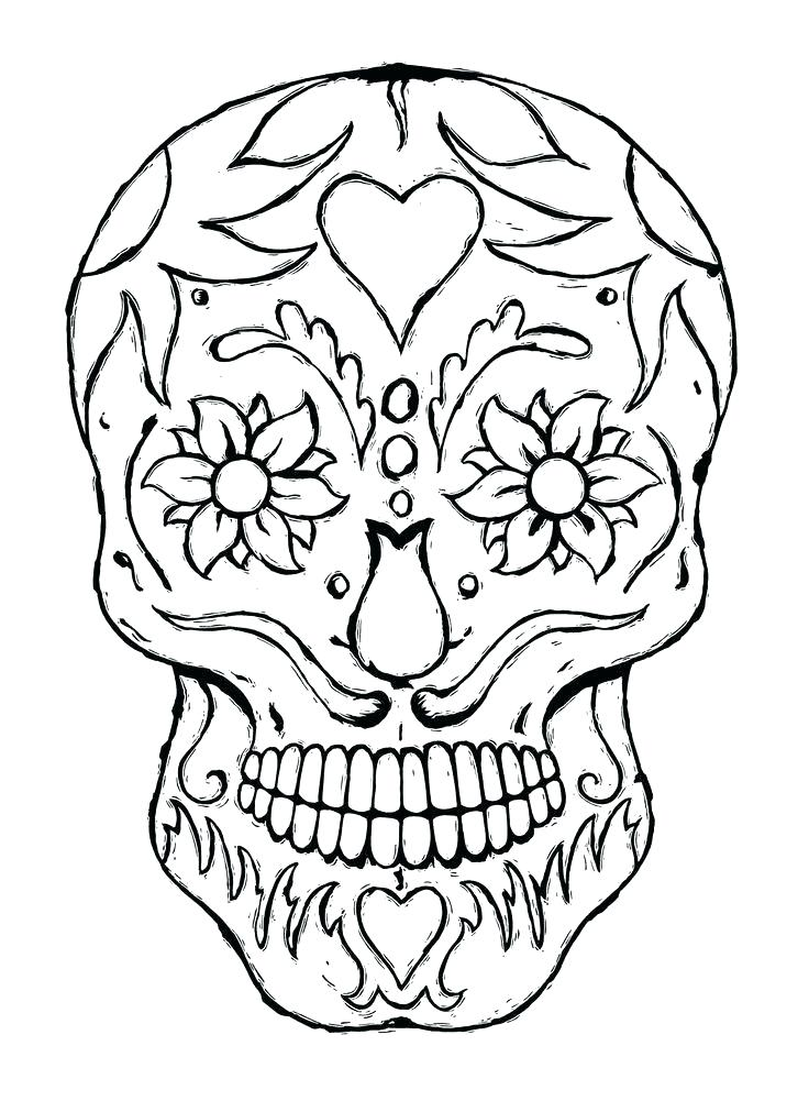 736x1001 Coloring Pages Skulls Sugar Skull Coloring Pages To Print Skulls