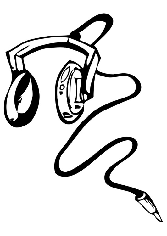 531x750 Coloring Page Headphones