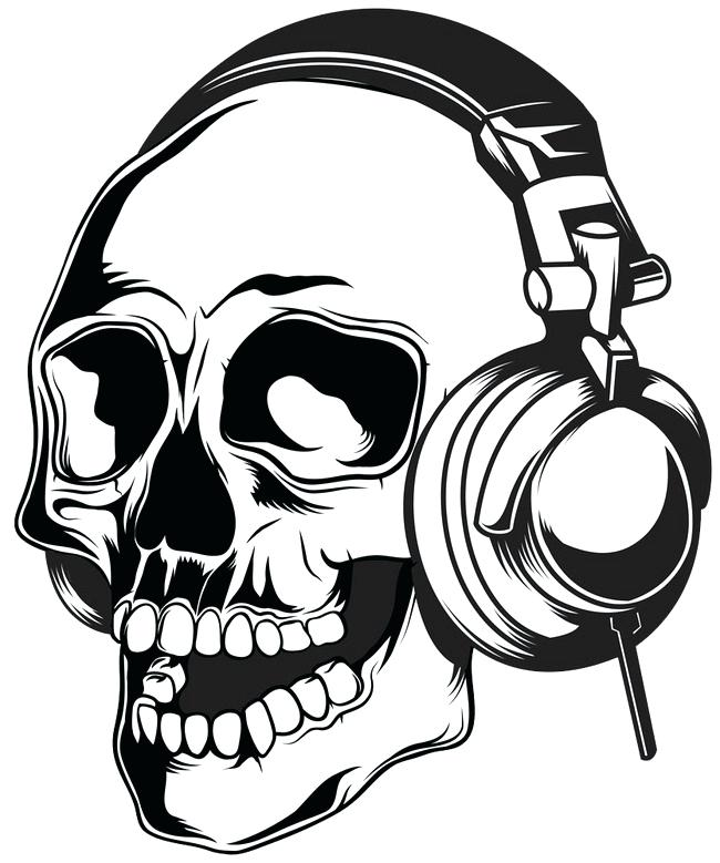 650x779 Skeleton Candy Headphones Skeleton Wearing Headphones Headset
