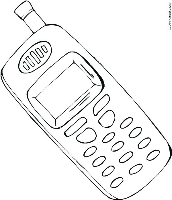 600x697 Earphone Coloring Pages