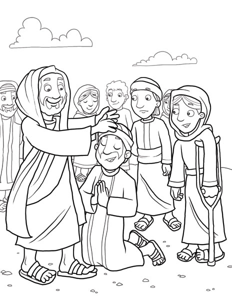 464x600 Jesus Heals A Leper The Sick Bible Class Coloring Pages