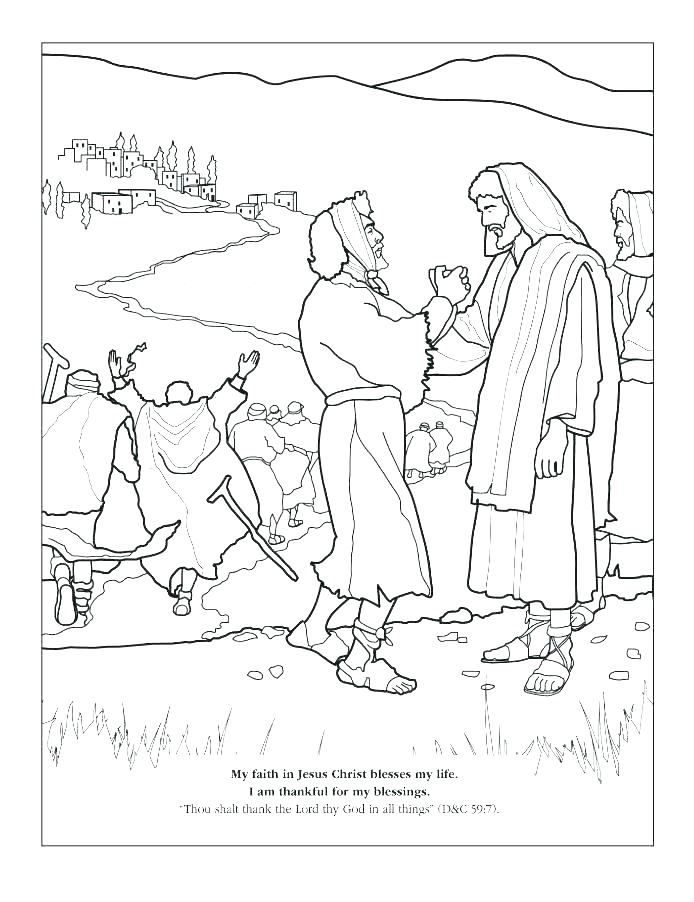 694x902 Jesus Heals Coloring Page Click To See Printable Version