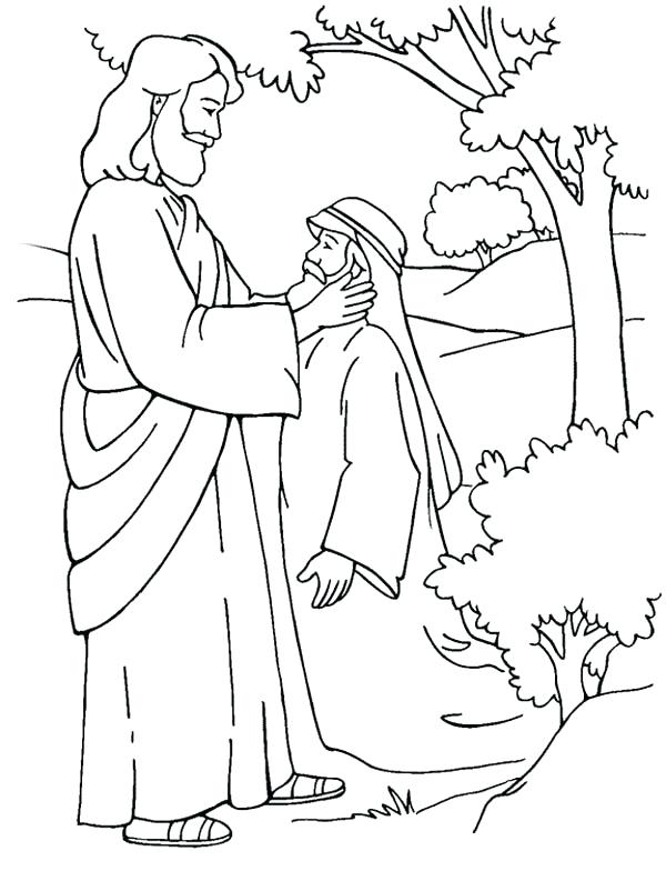 600x802 Jesus Heals Coloring Page Healing Deaf Man Is Miracles Of Coloring