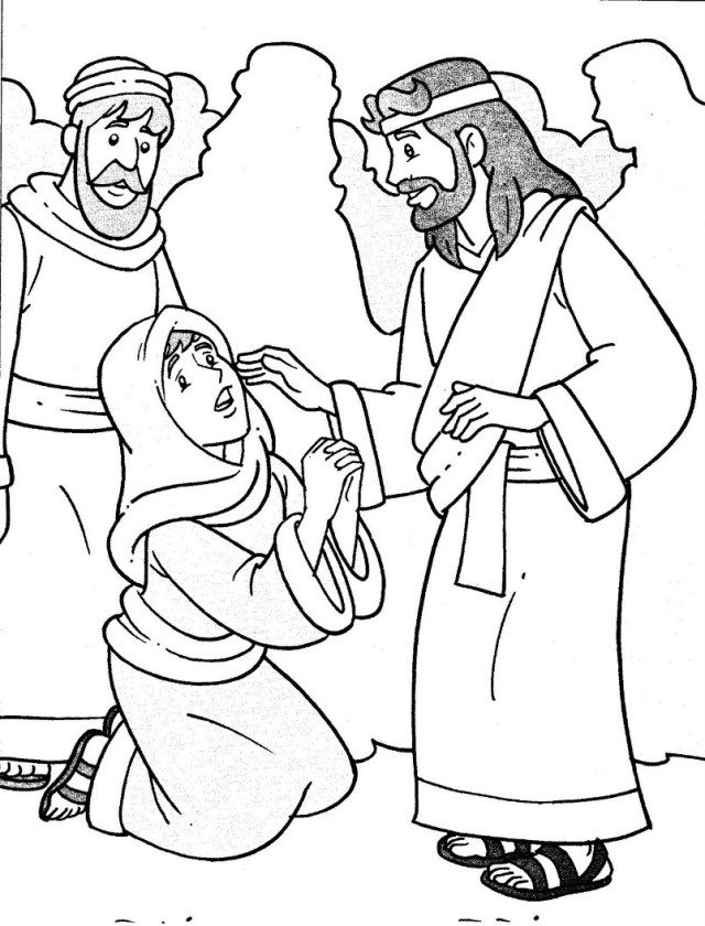 640x840 Jesus Heals The Sick Coloring Pages Az Coloring Pages Coloring