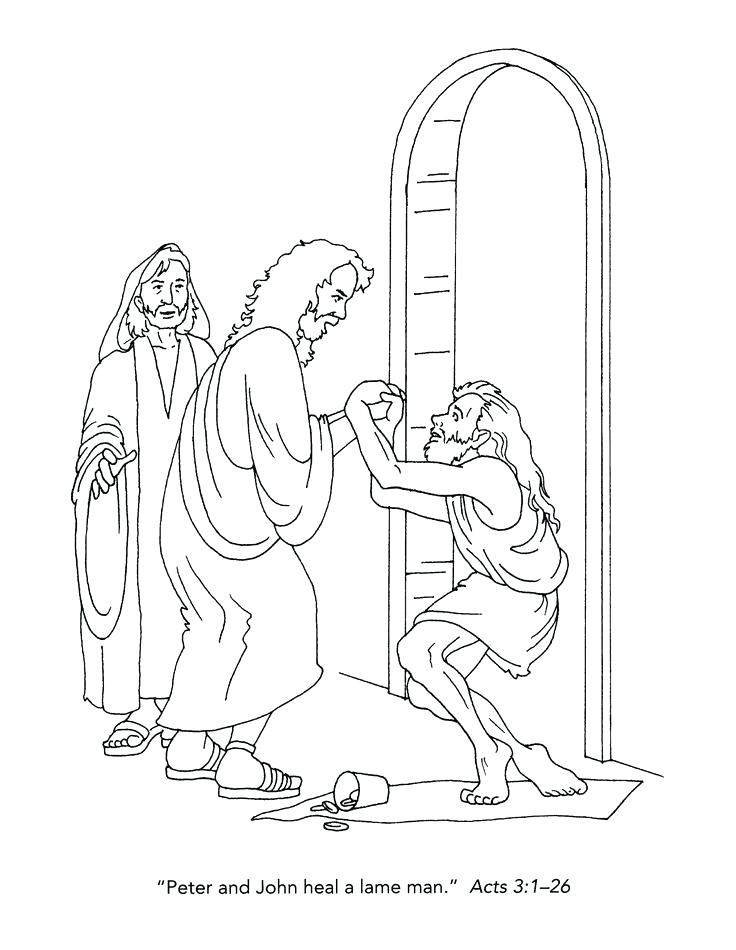 736x950 Lovely Lame Man Healed Coloring Page Or Peter And John Heal A Lame