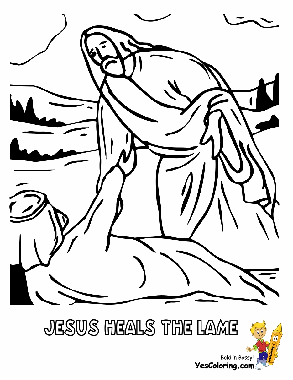935x1210 Unique Jesus Healing The Sick Free Coloring Pages Collection