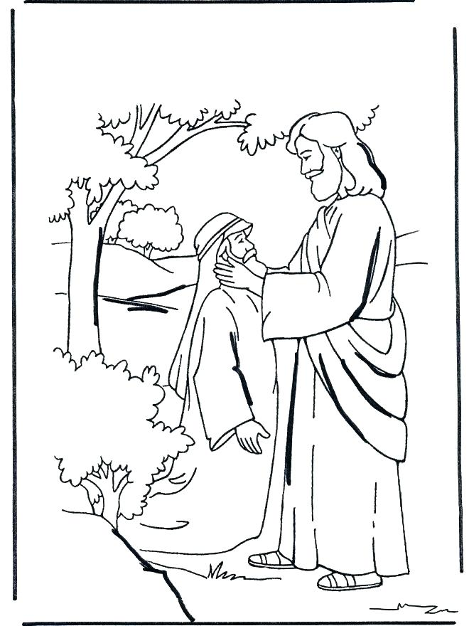 660x880 Coloring Bartimaeus Coloring Page Blind Healing The Colouring