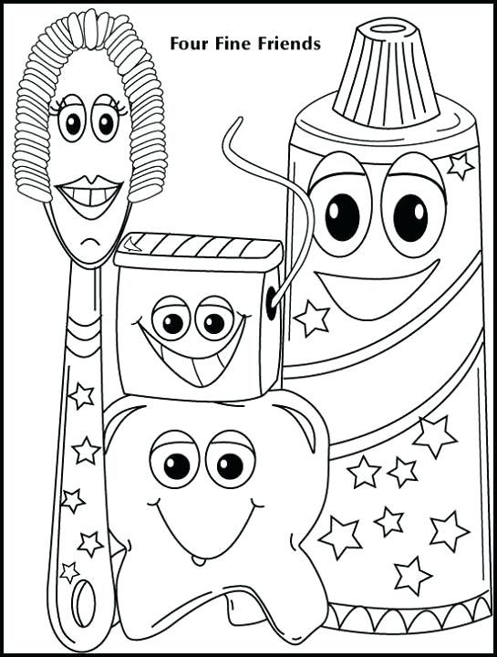 545x720 Free Dental Coloring Pages Dental Health Coloring Pages Excellent