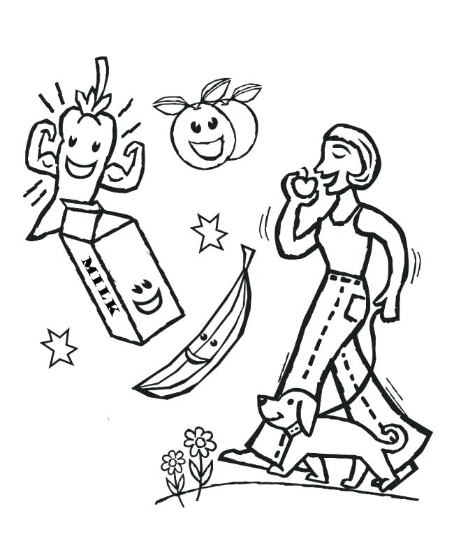 660x775 Health Coloring Pages Coloring Pages Of Healthy Foods Also Health
