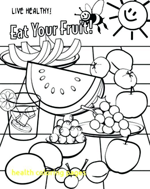 522x657 Health Coloring Pages Health Coloring Pages With Fresh Healthy