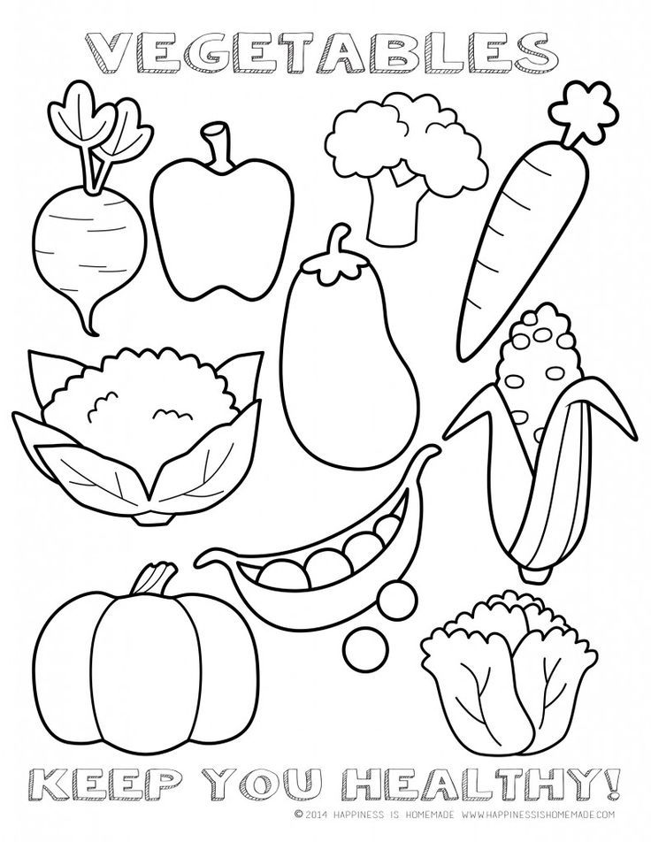 736x952 Healthy Vegetables Coloring Page Sheet