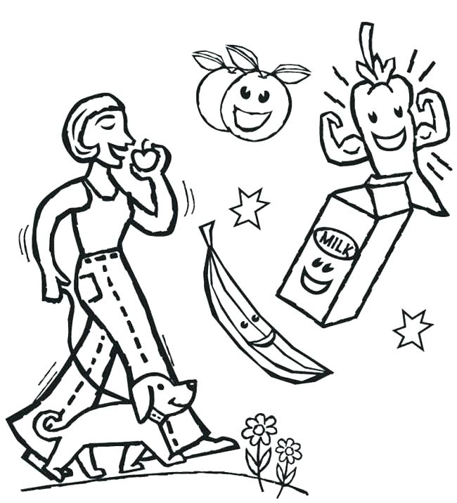 650x716 Healthy Coloring Pages