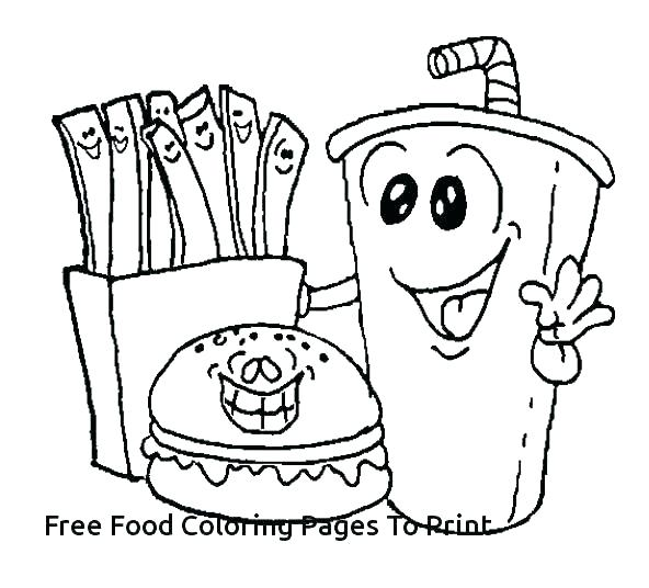 592x536 Healthy Foods Coloring Pages
