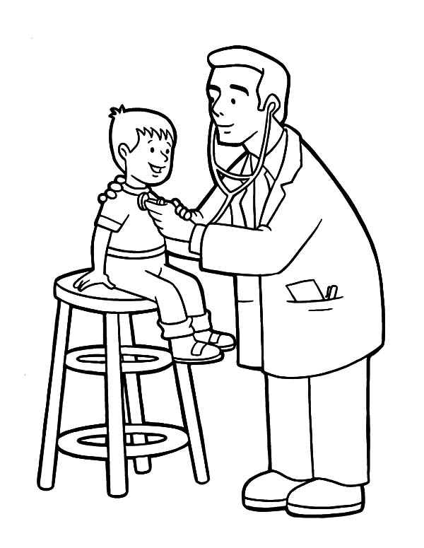 600x775 Checking Health Condition Coloring Pages Coloring Sun