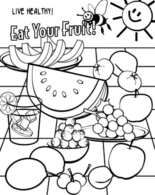 522x657 Fresh Fresh Health Coloring Pages