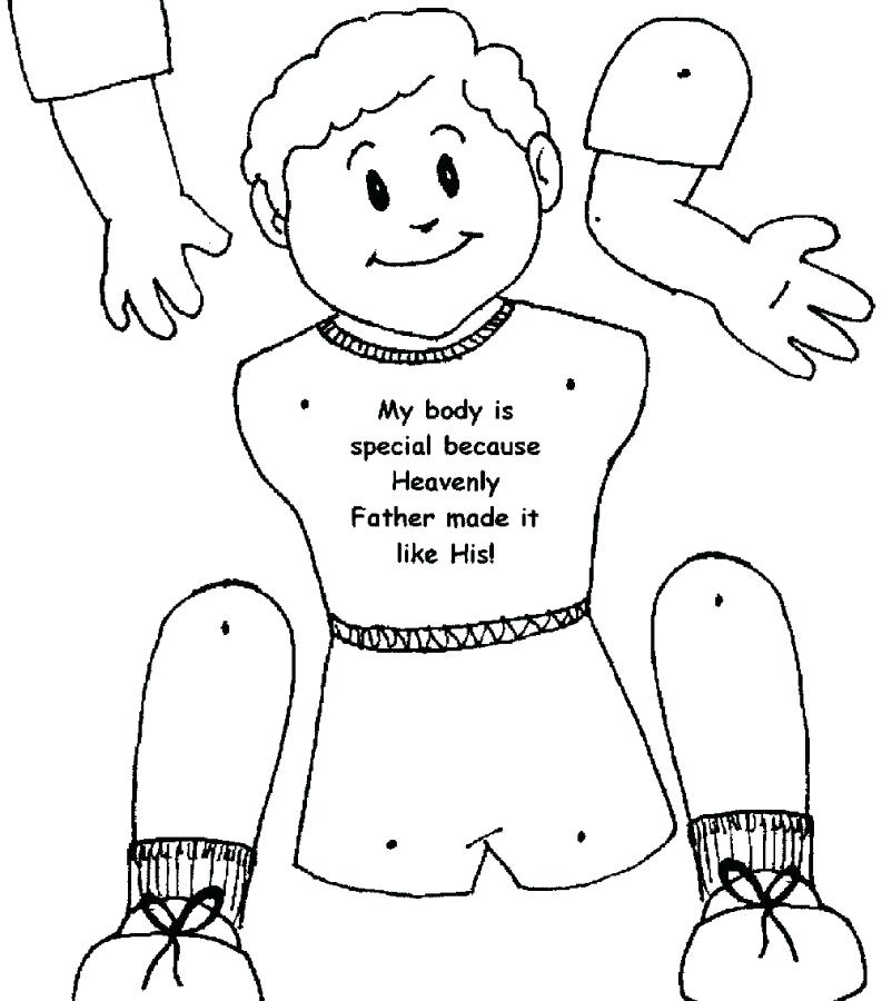 Healthy Body Coloring Pages