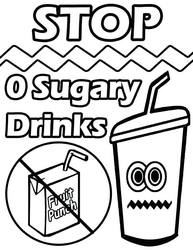619x801 Healthy Coloring Pages Health Drinks Colouring Pages Healthy Body