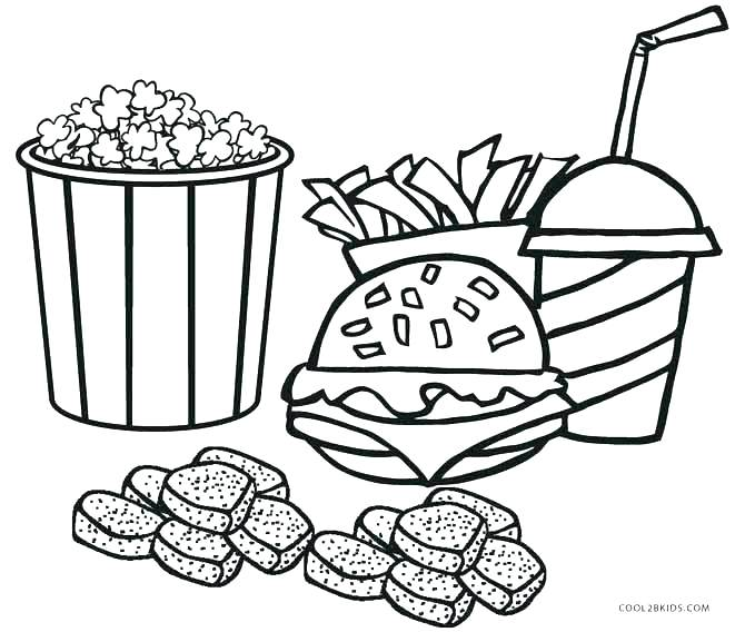 670x568 Free Food Coloring Pages To Print Food Coloring Pages Junk Food