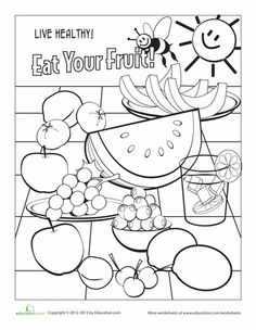 Healthy Food Coloring Pages At Getdrawings Com Free For Personal