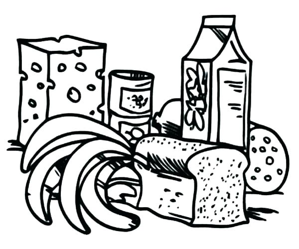 600x500 Healthy Eating Coloring Pages Healthy Food Coloring Pages Coloring