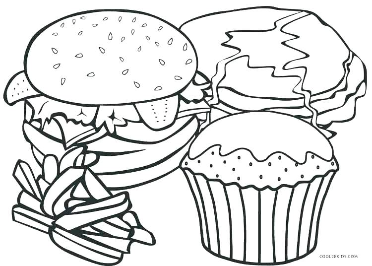 750x536 Healthy Food Coloring Food Coloring Pages Packed With Fast Food