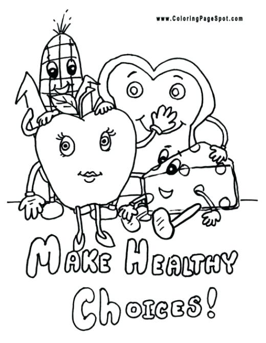 520x672 Healthy Food Coloring Page Coloring Sheets Of Healthy Foods