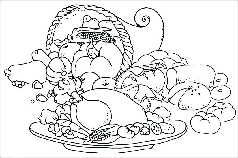 825x550 Healthy Food Coloring Page Healthy Food Colouring Pictures