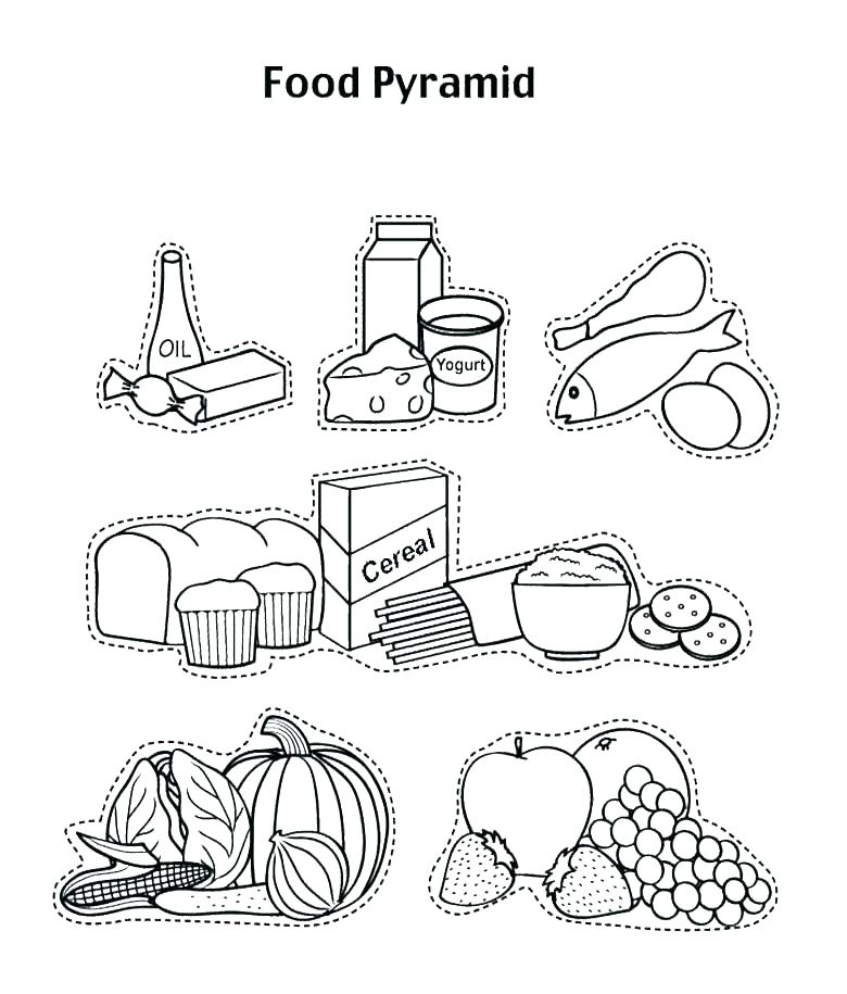 780x915 Healthy Food Coloring Page Pyramid Coloring Pages Healthy Food