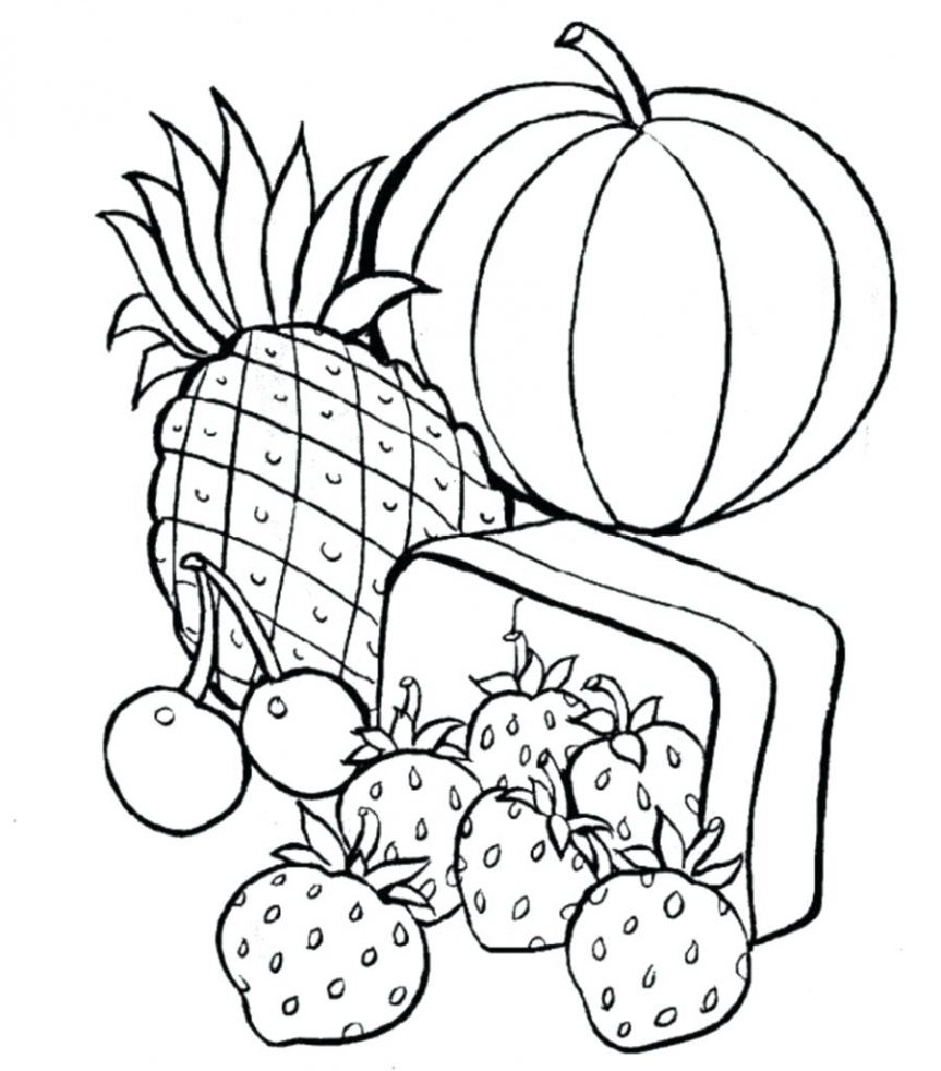 863x982 Healthy Food Coloring Pages