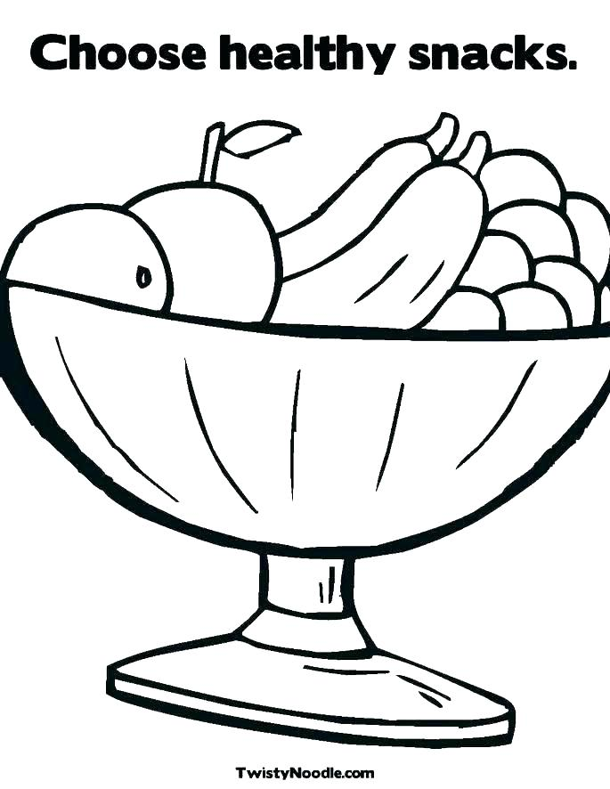 685x886 Healthy Food Coloring Pages Healthy Food Coloring Page Snack