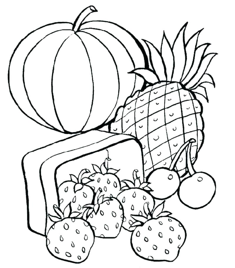 800x910 Printable Food Coloring Pages Picnic Basket Coloring Page Food
