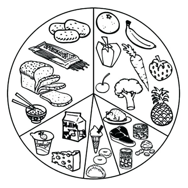 600x600 Food Coloring Pages Healthy Eating List Of Eating Healthy Food