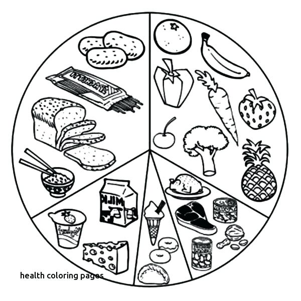 600x600 Healthy Coloring Pages Healthy Eating List Of Eating Healthy Food