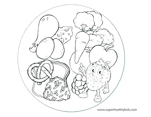 618x478 Healthy Food Coloring Pages Printable Healthy Foods Coloring Pages