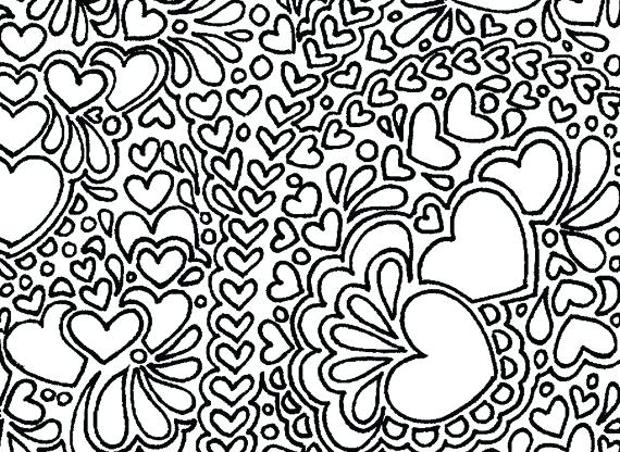 570x416 Healthy Heart Coloring Pages Printable Coloring